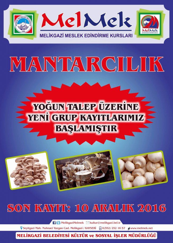 MANTAR YETİŞTİRİCİLİĞİ KURSU (İHA/KAYSERİ-İHA)